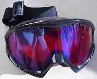 Bloc Goggles Comet Co4 Black Blue Mirror Lens Adult Ski Snowboard Cat 3