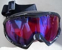 Bloc Goggles Comet Co4 Black Blue Mirror Lens Adult Ski Snowboard Cat 3