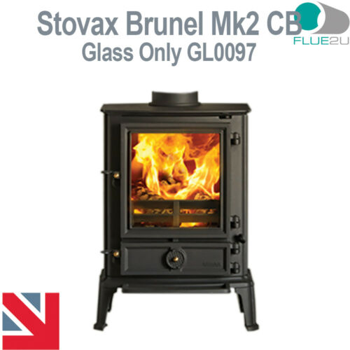 Stovax Brunel Mk2 CB Stove Glass Direct Replacment Heat Resistant Glass GL0097