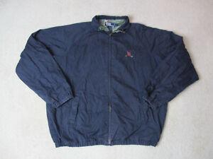 VINTAGE-Ralph-Lauren-Polo-Golf-Jacket-Adult-Large-Blue-Red-Full-Zip-Golfer-Men