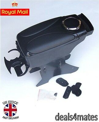 Consegna Veloce Black Bracciolo Bracciolo Console Per Audi A2 A3 A4 A6 80 100 200 Tt Nuovo Inscatolato-