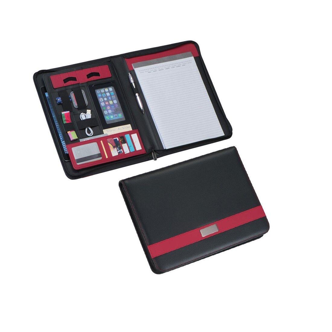 Schreibmappe DIN A4 Business Mappe Schule Konferenz + Visitenkartenetui STF227 | Geeignet für Farbe  | Sorgfältig ausgewählte Materialien  | Online Kaufen
