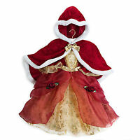 Disney Store Belle Deluxe Holiday Dress With Cape Costume Size 7-8 7 8