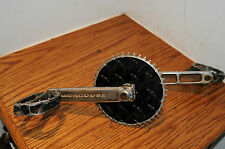 OLD SCHOOL BMX MONGOOSE PRO CRANK AND PEDALS FUZZ VINTAGE CYCLING BICYCLE PARTS