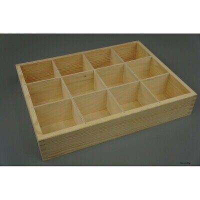 12er Fächer Holzkiste Ohne Deckel Aufbewahrungsbox Decoupage Organizer Sammler Ein GefüHl Der Leichtigkeit Und Energie Erzeugen