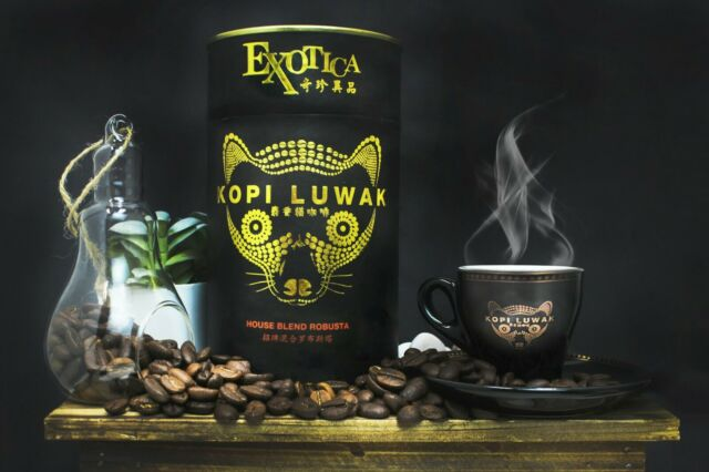 100% Genuine Kopi Luwak Robusta House Blend Whole Coffee ...