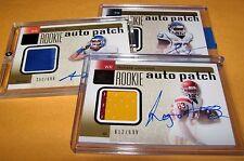2011 SP Authentic Patch Lot = 3pc Pettis 2 clr, Todman 1clr & Johnson 2clr /699