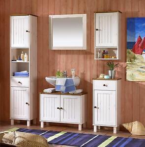 Das Bild Wird Geladen Landhausmoebel Badmoebel Set  Kommode Regale Kiefer Massiv Weiss