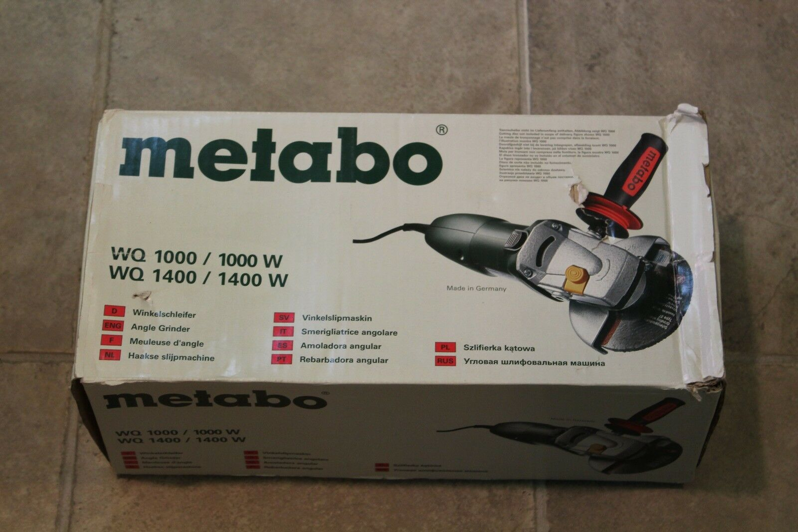 Metabo WQ 1000 5 Inch Angle Grinder