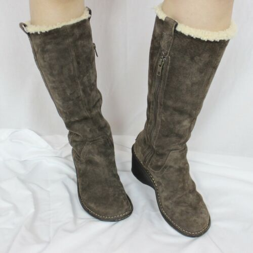 UGG Australia Hartley Brown Tall Wedge Boots