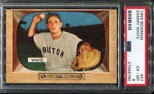 1955-Bowman-Baseball-47-SAMMY-WHITE-Boston-Red-Sox-PSA-6-EX-MT