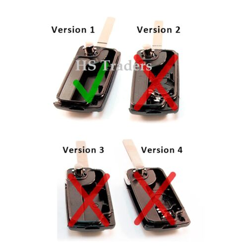 3 BUTTON FLIP REMOTE KEY FOB CASE FOR CITROEN C4 C5 C6 C8  *NB* A50