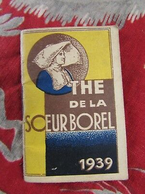 Systematisch Ancien Mini Petit Calendrier Almanach Porte Monnaie Publicitaire Thé Borel 1939