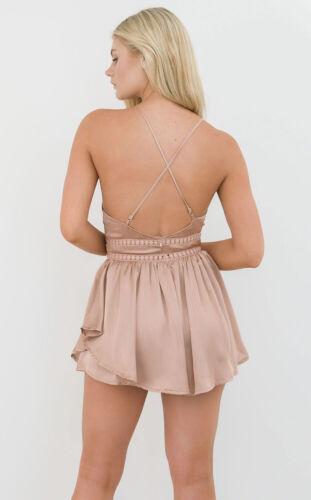 Women Sleeveless Bandeau Mini Playsuit Jumpsuit Casual Beach Shorts Dress Summer