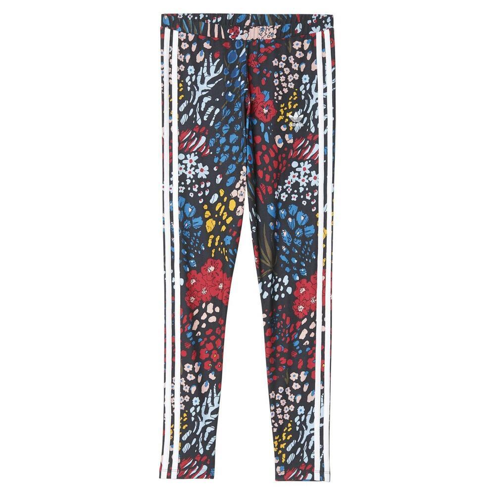 Adidas Originals Femmes 3 Rayure Leggings Floral Confortable Gym Fitness Trèfle Neuf