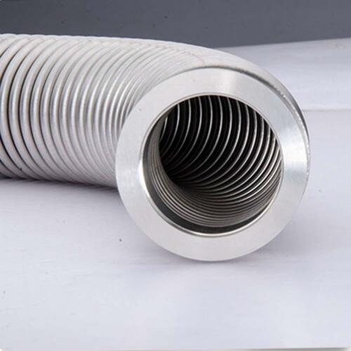 US 2PCS KF-25 Bellows Hose Flexible Stainless Steel Vacuum Corrugated Tube 600mm