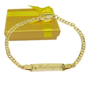Image Is Loading Baby Bracelet 14k Personalized Name
