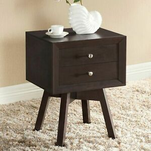 Nightstand-Bed-Side-Table-Lamp-Stand-Storage-Drawer-Accent-Sofa-Console-Bedroom
