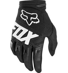 Fox-Racing-Dirtpaw-Juventud-Motocross-MX-Bicicleta-de-Montana-Bici-fuera-de-carretera-Guantes-Negro