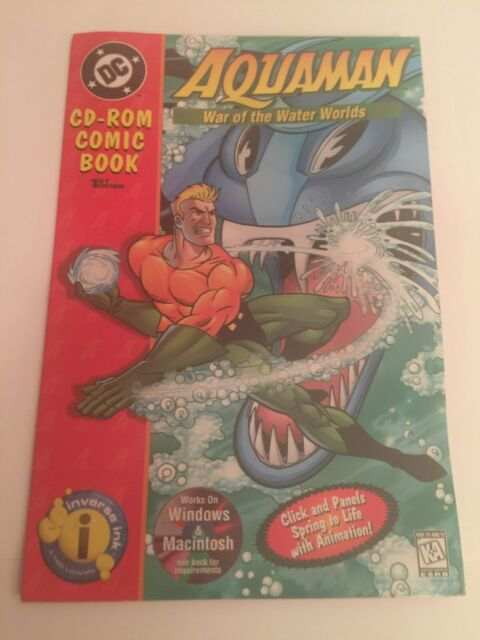 New Aquaman War Of The Water Worlds 1st Edition DC Comic Book CD ROM MAC PC Game