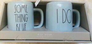 Rae-Dunn-SOME-THING-BLUE-amp-I-DO-Ceramic-Wedding-Coffee-Mugs-Set