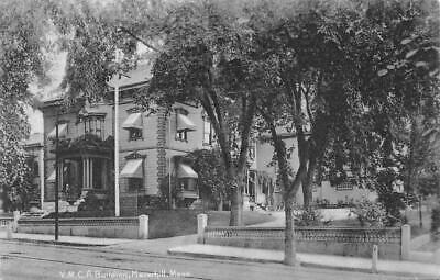 Haverhill MA Main Street From City Hall 1908 RPPC Postcard