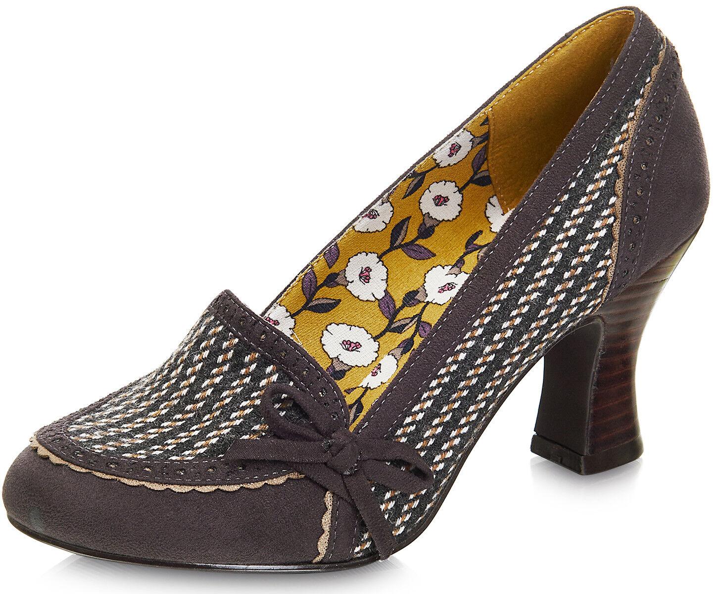 Ruby SHOO Camilla Vintage Floral Pumps Fiori Patent Leather Heels Pumps Floral Rockabilly af4266
