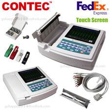 Usa Touch Portable Ecgekg Machine Ecg1200gprinteramppaper12 Channel 12 Leads