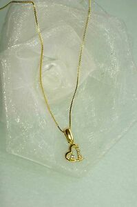 Analytical Schmuckset 750 Gold 2 Tlg ♥ Herz♥ AnhÄnger 750 Gold Halskette 42 Cm Neu
