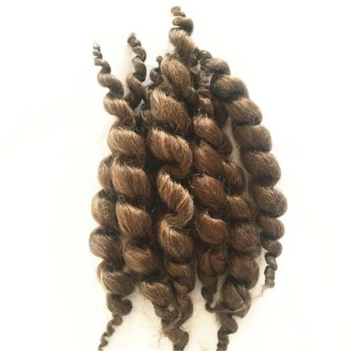 Brown Reborn Doll Supplies Premium Curly Mohair Baby Supplies 20g Handmade Dark