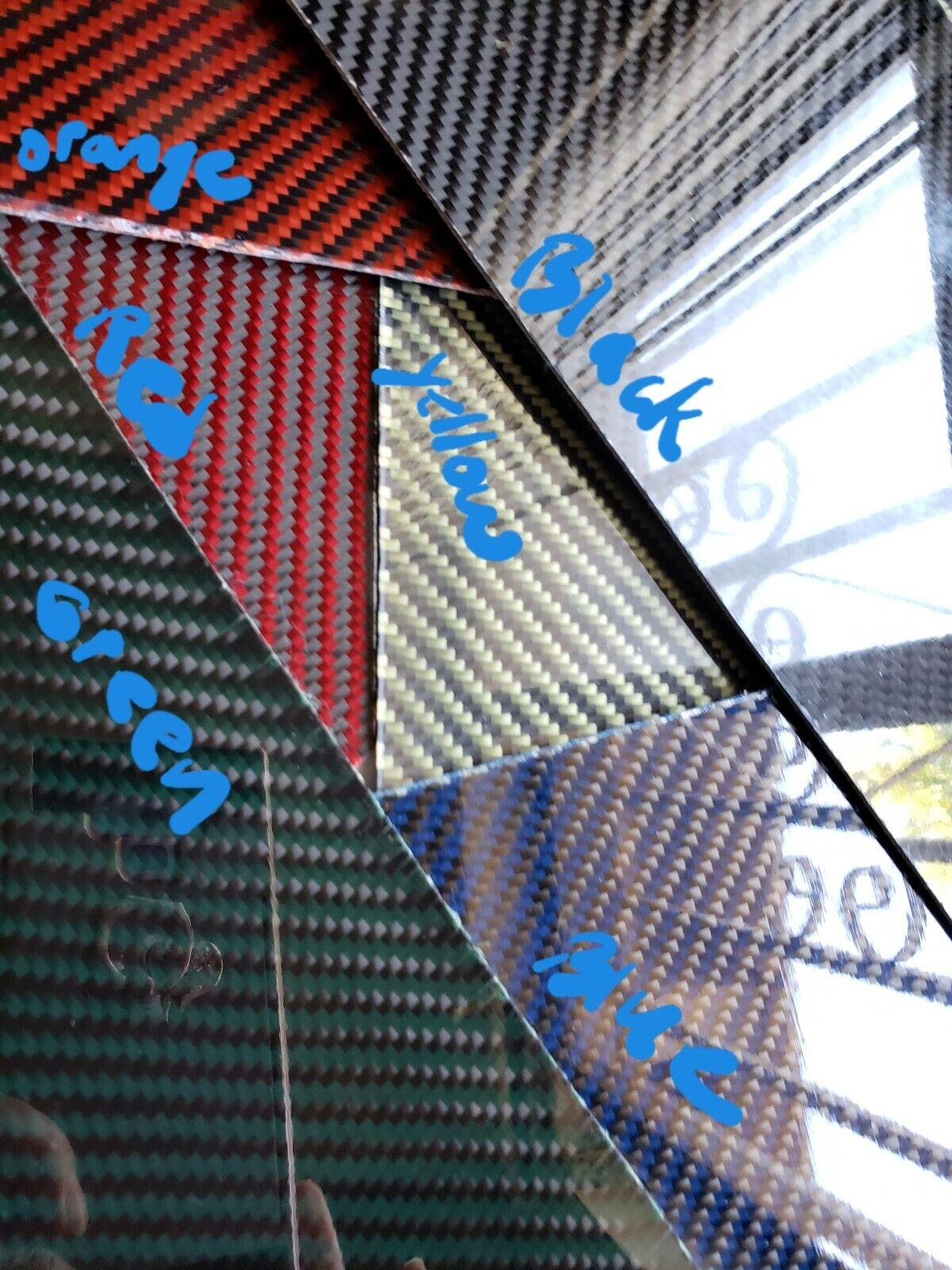18 x60 x 1 4  2x2 Hoja de placa de fibra de vidrio fibra de Cochebono Sarga brillante de un lado