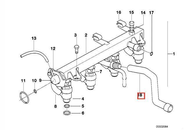 Genuine BMW E28 E30 E34 Cabrio Volume Air Flow Sensor Hose OEM 13411718777