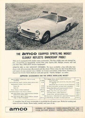Classic Vintage Advertisement Ad D199 1964 AMCO Austin Healey Sprite MG Midget