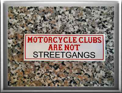 "HELLS ANGELS Support 81 Sticker Aufkleber ""Motorcycleclubs are not Streetgangs"""