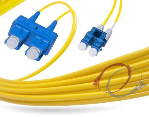2 Meter OS2 LC-SC 9//125 Singlemode Duplex Fiber Cable