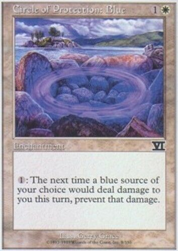 MTG *CCGHouse* Magic 6th Edition Circle of Protection: Blue X4 NM
