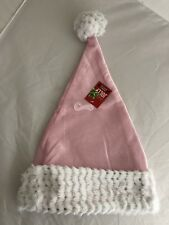 c226800157b3f Be Jolly Pink Sparkle Christmas Santa Hat with Faux Fur Trim NWT