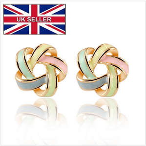 Gold plated earrings HighQuality twisted spiral stud earrings for Valentine - <span itemprop=availableAtOrFrom>London, United Kingdom</span> - Gold plated earrings HighQuality twisted spiral stud earrings for Valentine - London, United Kingdom