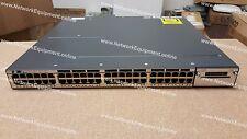 Cisco WS-C3750X-48PF-E PoE+ IP SERVICES LICENSE Ten Gigabit 3750X-48PF-E switch