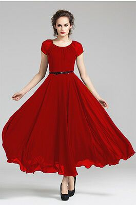 1 Red Women billowing Skirt Evening Cocktail Party long maxi Dress Plus Size 20