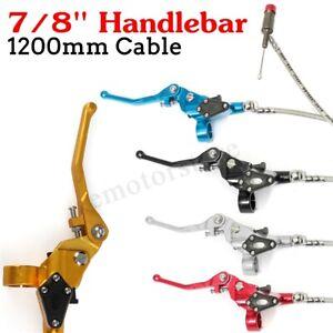 Hydraulic-Brake-Clutch-Lever-Master-Cylinder-Fit-Pit-Bike-22mm-7-8-034-Handlebar