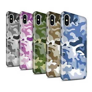 Gloss-Phone-Case-for-Apple-iPhone-X-10-Camouflage-Army-Navy