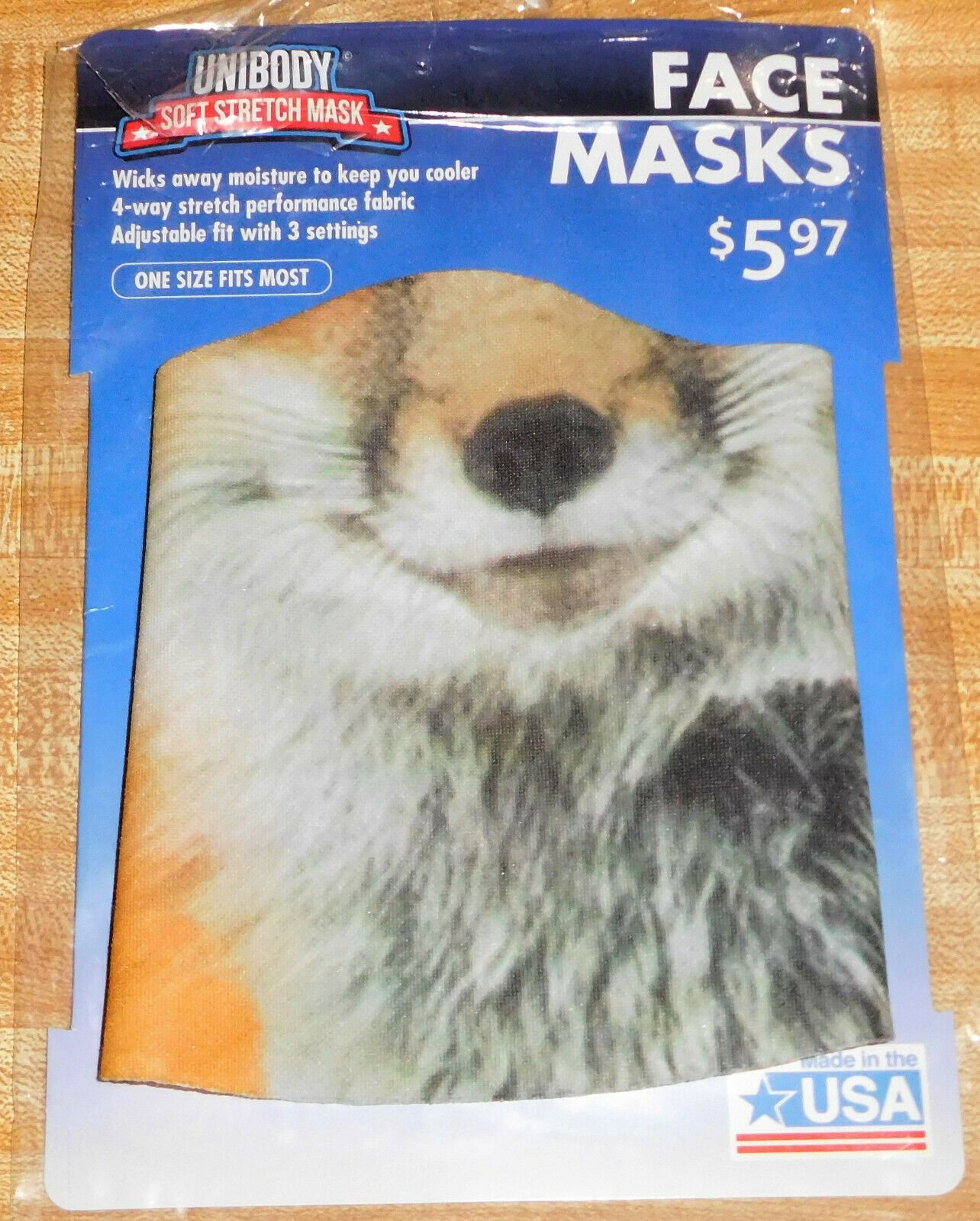 Fox Wildlife ½ Facial Face Mask New Never worn – for Kids' Play Dress up Costume
