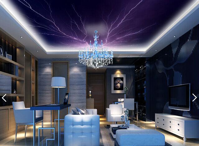 3D Schöne lila Blitz 564 Fototapeten Wandbild Fototapete BildTapete Familie DE