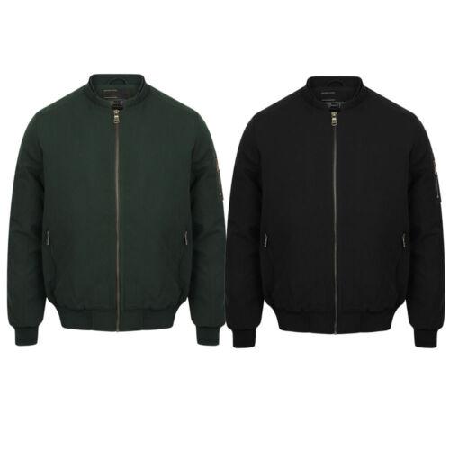 New Mens Dissident Whitecross Zip Up Baseball Collar Bomber Jacket Size S-XXL