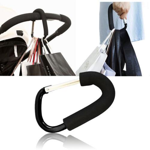 Pushchair Hook Clip Large Buggy Pram Shopping Bag Strong Mummy Carry UK