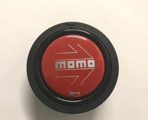 "MOMO Steering Wheel Horn Button Red /"" New Logo /"""