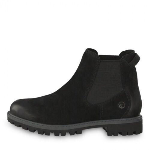 Tamaris Chelsea Boot Papaw Schwarz Schuhe Leder 1-1-25401-21-007