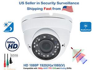 8x 1080p HD Outdoor Indoor CCTV Security Dome Camera  4in1 HD TVI CVI AHD Analog