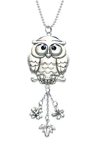 Car Charm Silver colored OWL Ganz EG0583